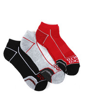 Ecko - 3 Pack 1/2 Cushion No Show Socks-2429101