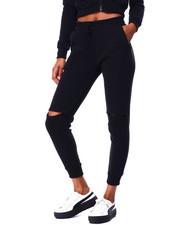 Bottoms - Slit Knee Drawstring Jogger-2426211