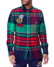 Parish - SCOTTISH PLAID SHIRT W SCREEN DETAIL-2429349