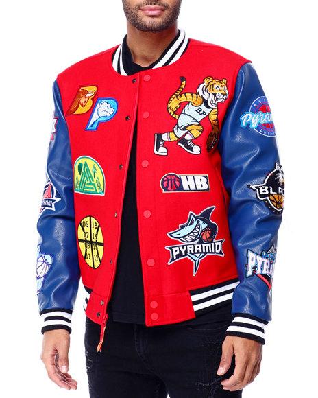 Buy Basketball Varsity Jacket Men S Outerwear From Black Pyramid Find Black Pyramid Fashion