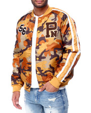 Parish - CAMO NYLON BOMBER JACKET-2428949