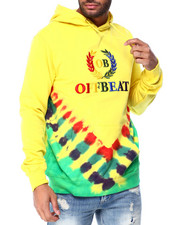 offbeat - Off Beat Embroidered Tie Dye HoodIE-2428790