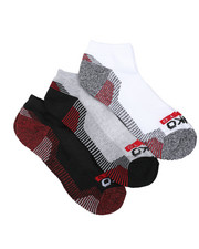 Ecko - 3 Pack 1/2 Cushion No Show Socks-2429081