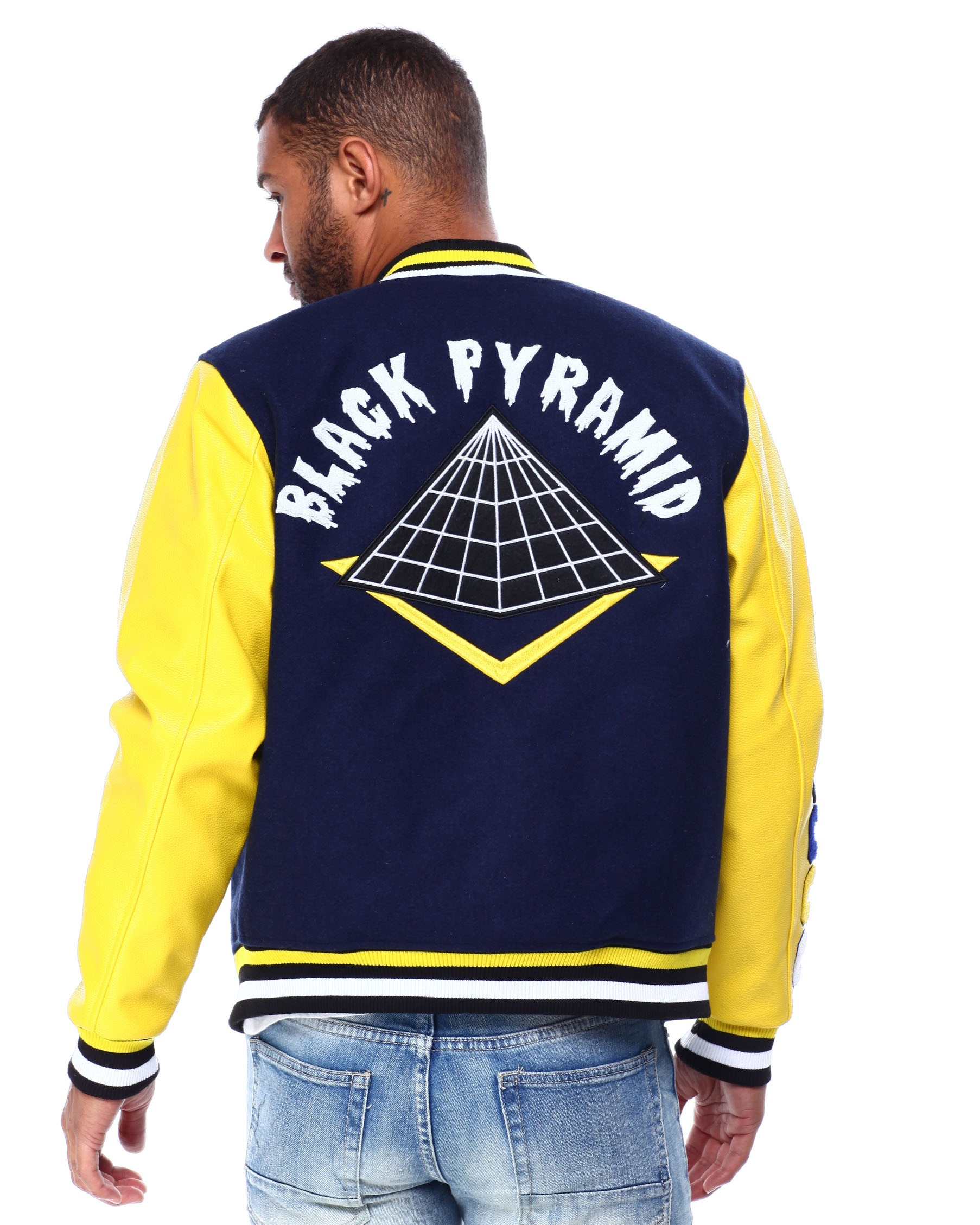 Buy Core Logo Varsity Jacket Men S Outerwear From Black Pyramid Find Black Pyramid Fashion