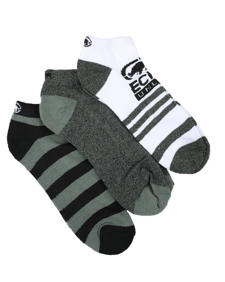 Ecko - 3 Pack 1/2 Cushion No Show Socks