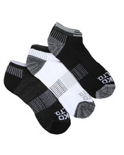 Accessories - 3 Pack 1/2 Cushion No Show Socks-2429084
