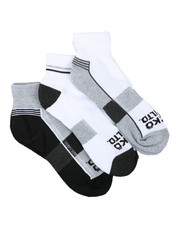 Ecko - 3 Pack 1/2 Cushion Quarter Socks-2429161
