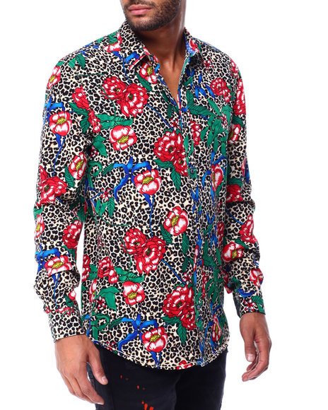 Buyers Picks - Leopard and Floral Ls Woven Shirt
