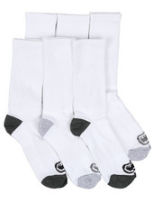 DRJ SOCK SHOP - 6 Pack 1/2 Cushion Crew Socks-2429176