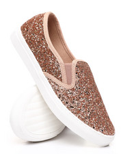 Womens-Holiday - Slip-On Glitter Sneakers-2429794