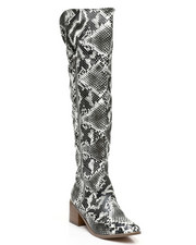 Womens-Holiday - Over The Knee Zip-Up Boots-2429705
