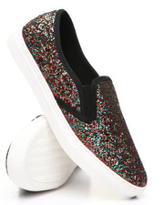 Womens-Holiday - Slip-On Glitter Sneakers-2429917