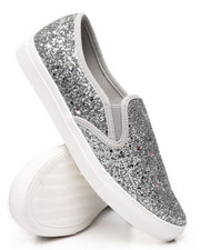 Womens-Holiday - Slip-On Glitter Sneakers-2429803