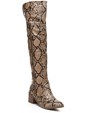Fashion Lab - Over The Knee Zip-Up Boots-2429696