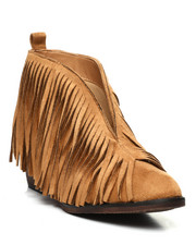 Fashion Lab - Open Front Fringe Bootie-2429822