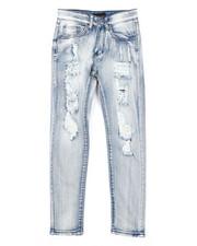 Jeans - Skinny Fit Stretch Jeans W/ Rip & Repair Bandana Insert (8-20)-2429534