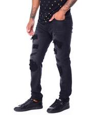 Jeans & Pants - Black Wash Stretch Moto Repair Jean-2430262