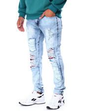 Jeans & Pants - Distressed Ripped Jean w PU Repair detail-2430201