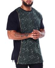 Buyers Picks - Zipper T-Shirt W/ Tied Wash Accent (B&T)-2428473
