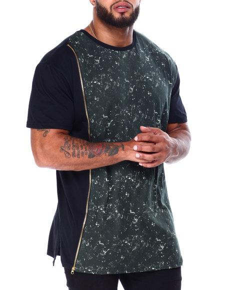 Buyers Picks - Zipper T-Shirt W/ Tied Wash Accent (B&T)