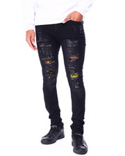 Men - Distressed Ripped Jean w Color Patch Repair detail-2430128