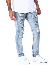 Jeans & Pants - Distressed Ripped Jean w Color Patch Repair detail-2430156