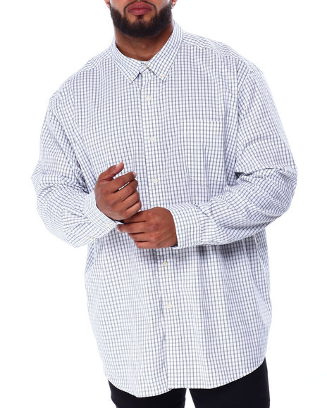 Chaps - Stretch Easy Care H-EC Stretch-L/S Sleeve-Sport Shirt (B&T)
