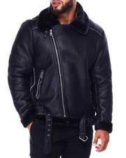 Heavy Coats - Bomber Shearling Jacket (B&T)-2426897