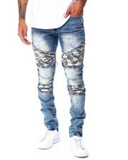 Jeans & Pants - Moto Jean w Camo Repair Detail-2430367