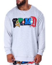 Pullover Sweatshirts - Collage Type L/S Crew Neck (B&T)-2428830