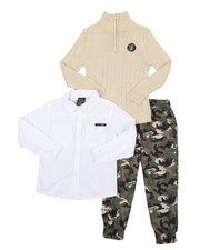 Boys - 3 Pc Sweater Set (4-7)-2429550