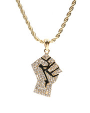 Stocking Stuffers Men - Power Fist Necklace-2430807