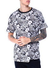 Men - Animal Print and Floral Tee-2430379
