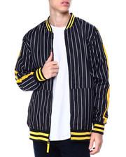 Buyers Picks - Pinstripe Solid Flight Jacket-2430525