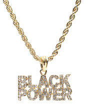 Stocking Stuffers Men - Black Power Necklace-2430812