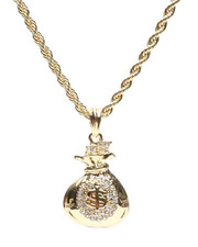 Stocking Stuffers Men - Money Bag Necklace-2430810