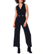 Almost Famous - S/L Jumpsuit W/Button-2431056