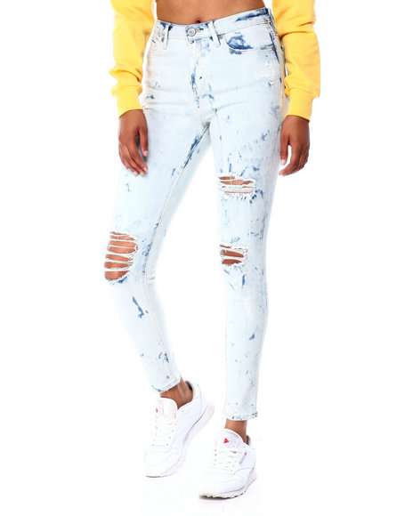 Almost Famous - Destructed High Rise Skinny