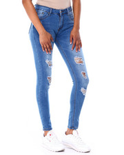 Bottoms - Ripped Knee Skinny Jean-2429731