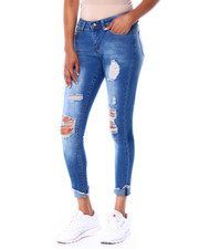 Bottoms - Ripped Skinny Jean W/Ripped Cuff-2429776