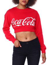 Graphix Gallery - Coca Cola Cropped Crewneck Sweatshirt-2431011