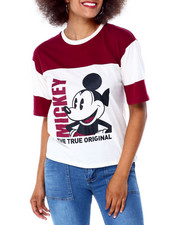Graphix Gallery - Mickey Original Double Pieced Sleeve Tee-2430021