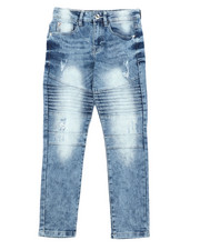 Boys - Stretch Biker Denim Jeans (8-18)-2431253