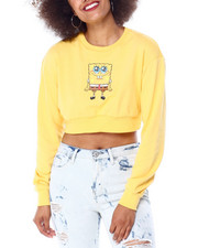 Graphix Gallery - SpongeBob Cropped Crewneck Sweatshirt-2431001