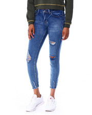 Bottoms - Distressed Raw Edge Skinny-2429740