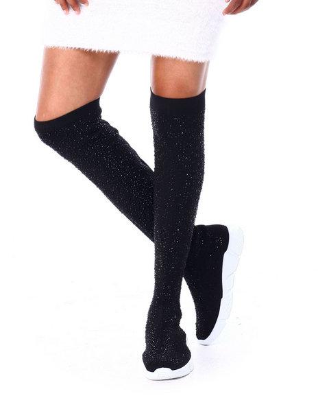 Fashion Lab - Knee High Slip On Sneaker