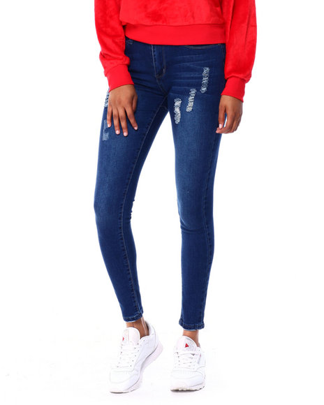 Fashion Lab - Distressed Washed Skinny Jean