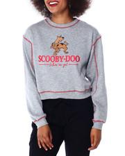 Tops - Scooby Doo Contrast Stitch Skimmer Sweatshirt-2431016