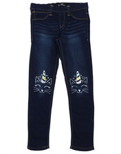 Jeans - Pull-On Denim Jeggings W/ Knee Embroidery (7-16)-2431173