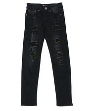 Jeans - Skinny Fit Stretch Jeans W/ Rip & Repair Bandana Insert (8-20)-2430013